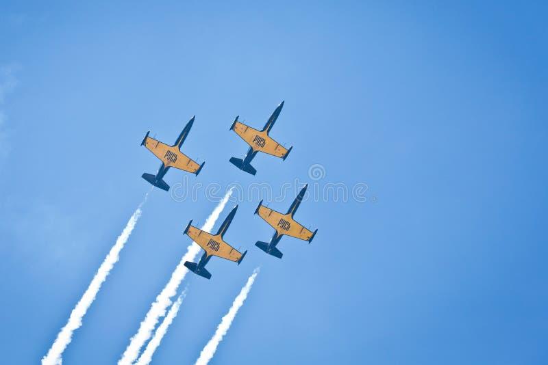 Aerobatic występ przy pokazem lotniczym zdjęcie royalty free