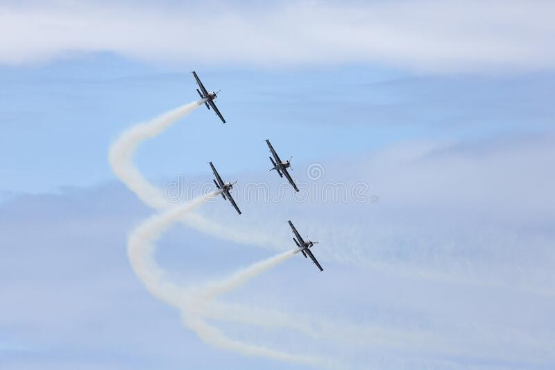 Aerobatici display team stock foto