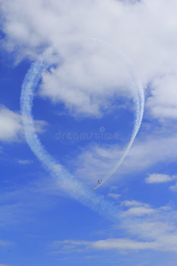 Aerobaticlijn stock fotografie