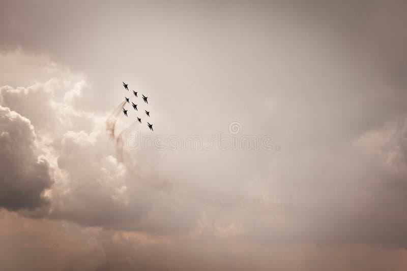 aerobatics fotografia stock