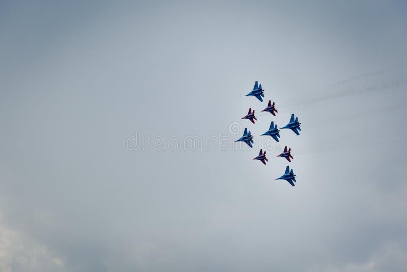 Aerobatics grupa wojownicy zdjęcia royalty free