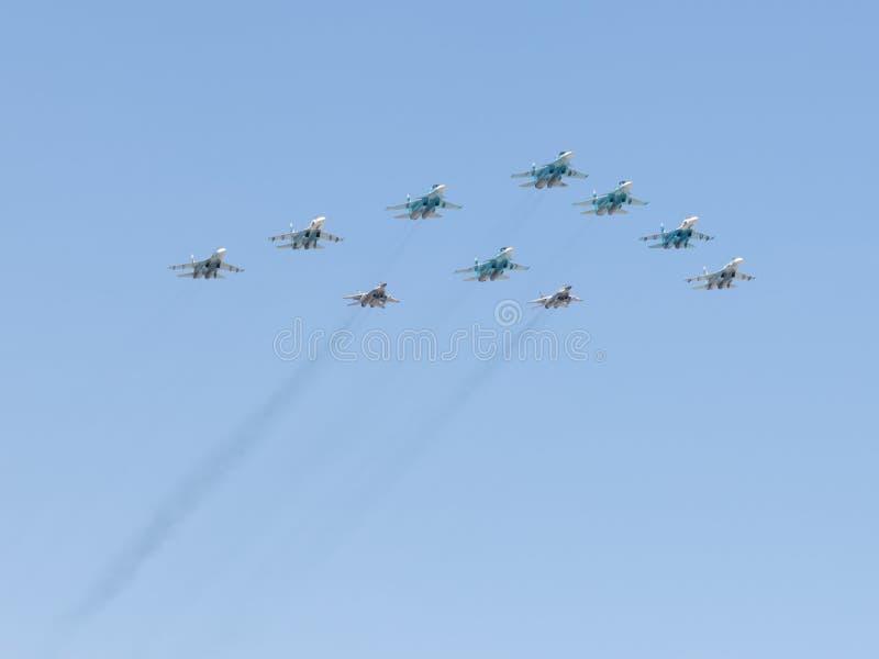Aerobatics nad Moskwa zdjęcia stock