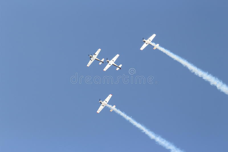 Aerobaticteam: Yakolevs stock foto's