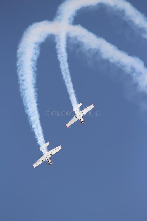 Aerobaticteam: Yakolevs stock fotografie