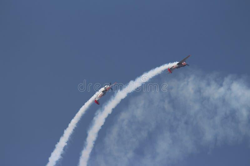 Aerobaticteam: Yakolevs royalty-vrije stock afbeelding