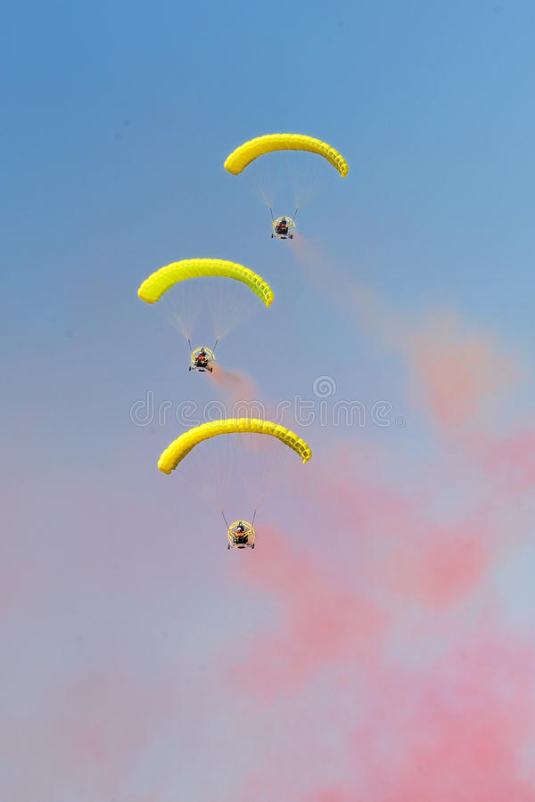 Aerobaticvlucht royalty-vrije stock foto's