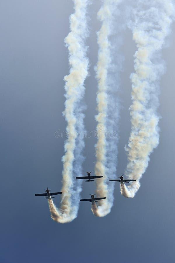 Aerobaticvlucht stock afbeelding