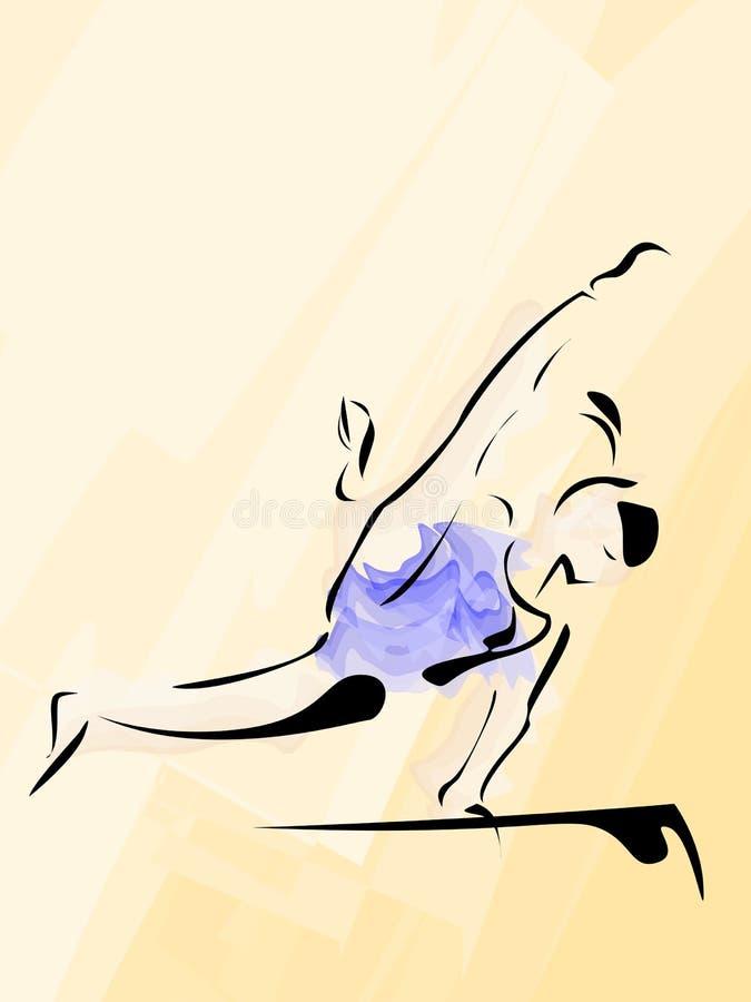 Aerobic gymnastic stock illustration