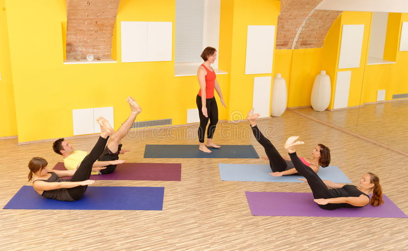 Aerobic Pilates stock image