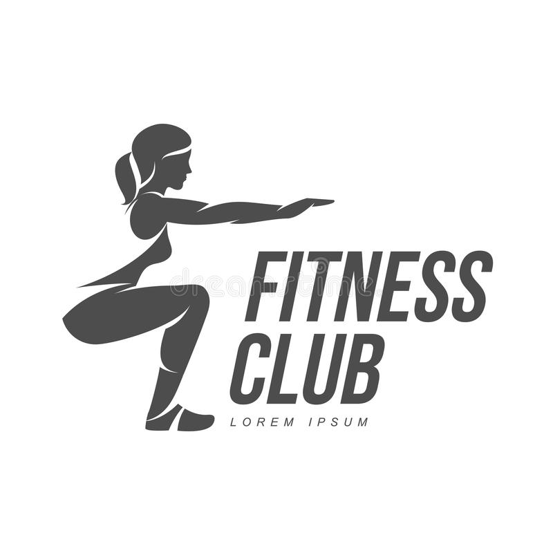 aerobic workout logo stock illustration illustration of