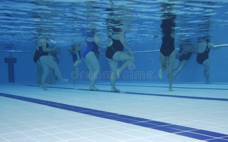 Aerobics class stock photos