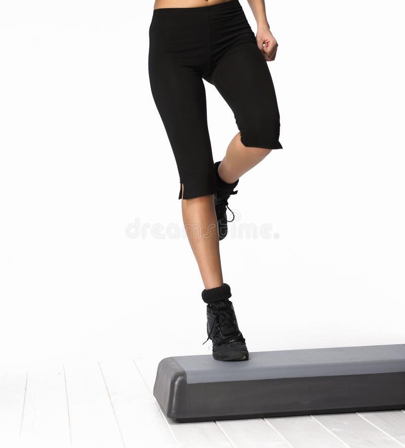 Aerobics da etapa foto de stock