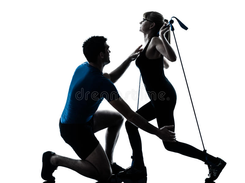 Download Aerobics Intstructor  With Mature Woman Exercising Stock Photo - Image: 24867594