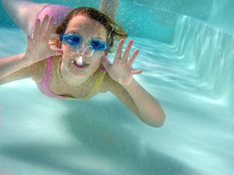Aerobics subacqueo fotografia stock