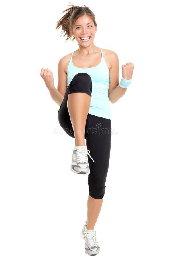aerobicskonditionkvinna royaltyfri foto