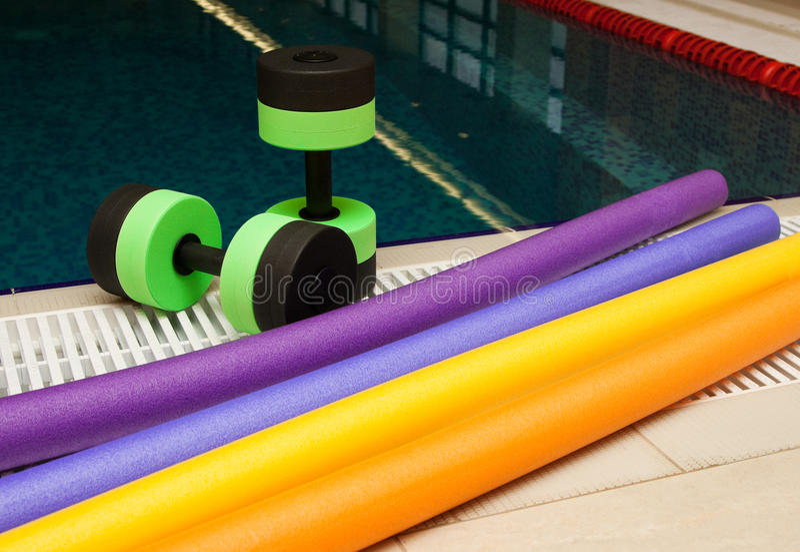 aerobików aqua wyposażenie obrazy stock