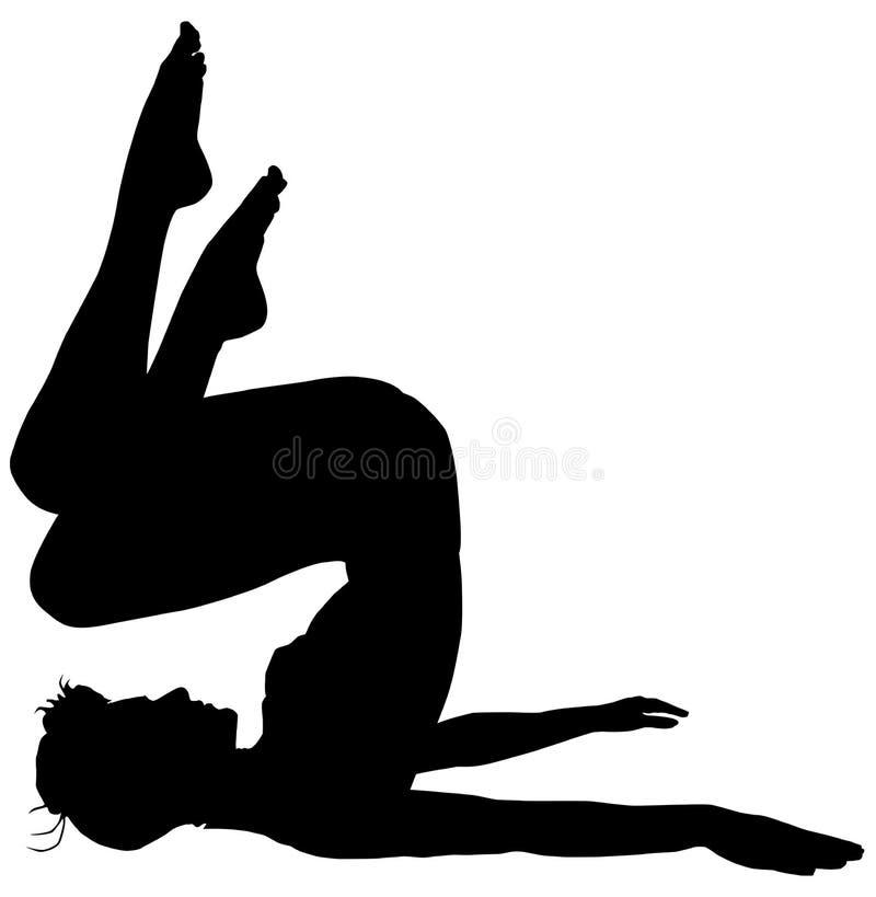 aerobik sylwetka ilustracja wektor
