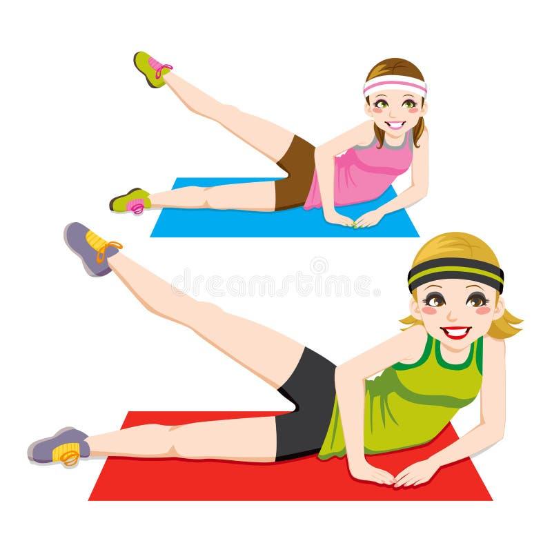 aerobisk övning vektor illustrationer