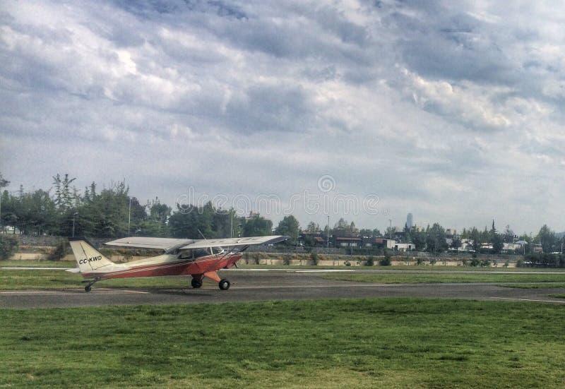 Aeroboero vóór start stock foto's