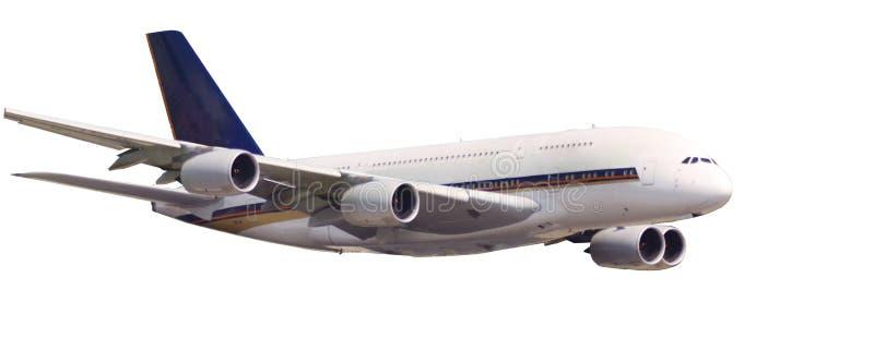 Aerobus A380 bigest samolot świat odizolowywający zdjęcia royalty free