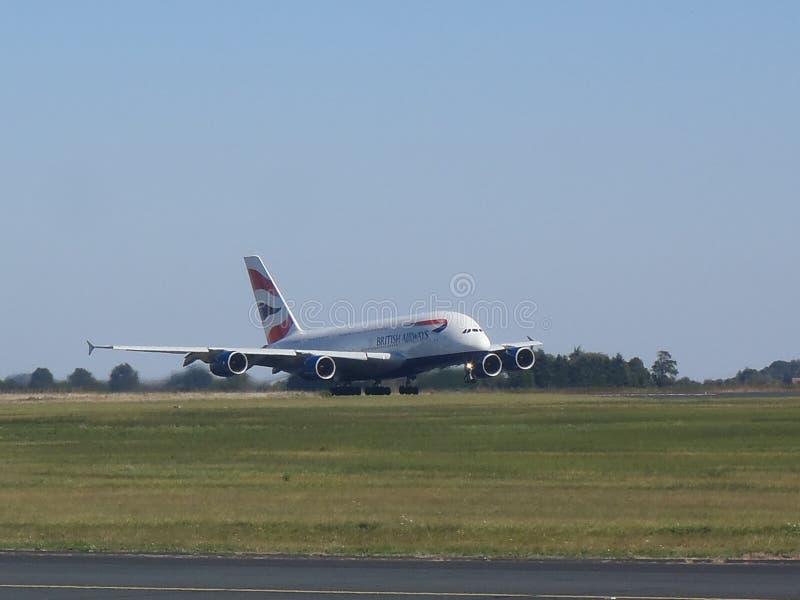 Aerobus A380 British Airways obraz stock