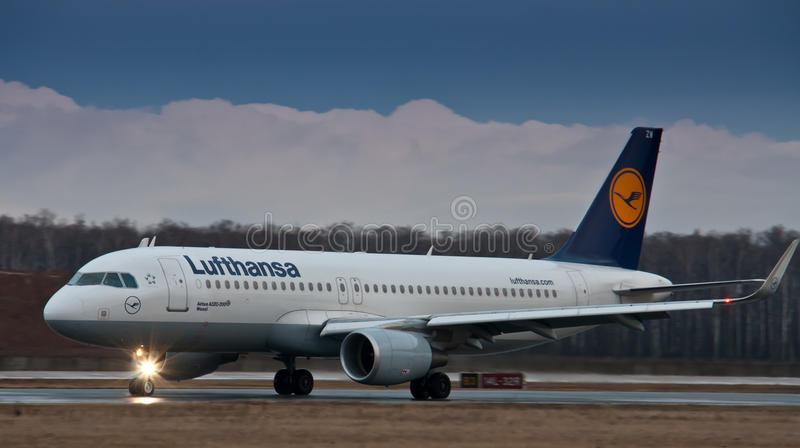 Aerobus A319 Lufthansa obrazy royalty free