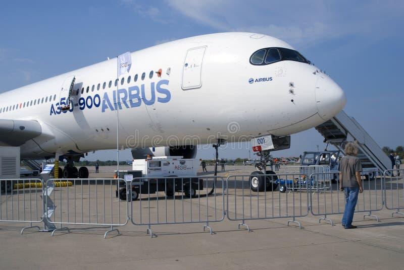 Aerobus A350 przy MAKS Międzynarodowym Kosmicznym salonem obraz stock