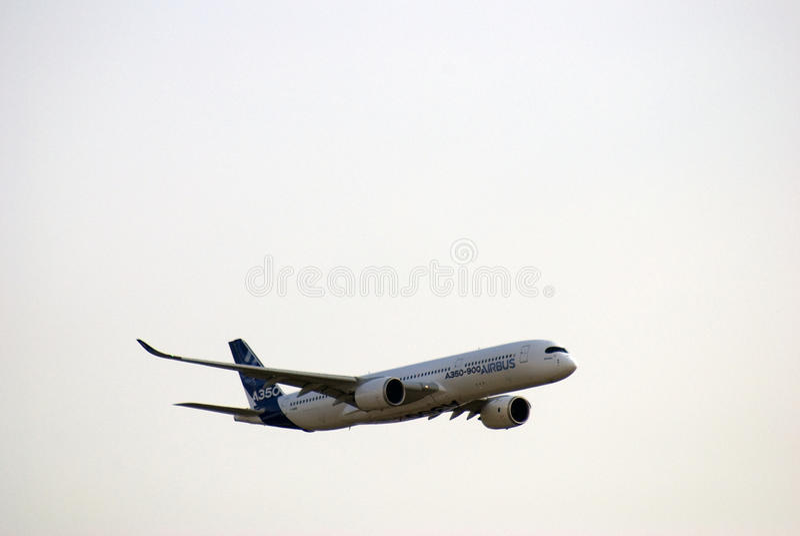 Aerobus A350 przy MAKS Międzynarodowym Kosmicznym salonem obrazy royalty free