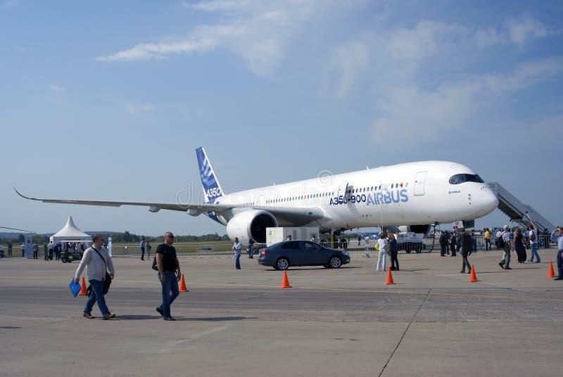 Aerobus A350 przy MAKS Międzynarodowym Kosmicznym salonem fotografia stock