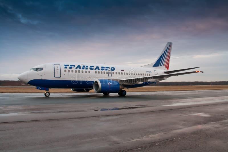 Aerobus A319 Transaero obraz stock