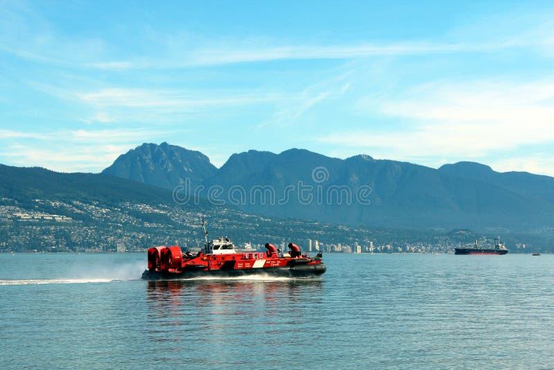Aerodeslizador canadense do protetor de costa fotografia de stock royalty free