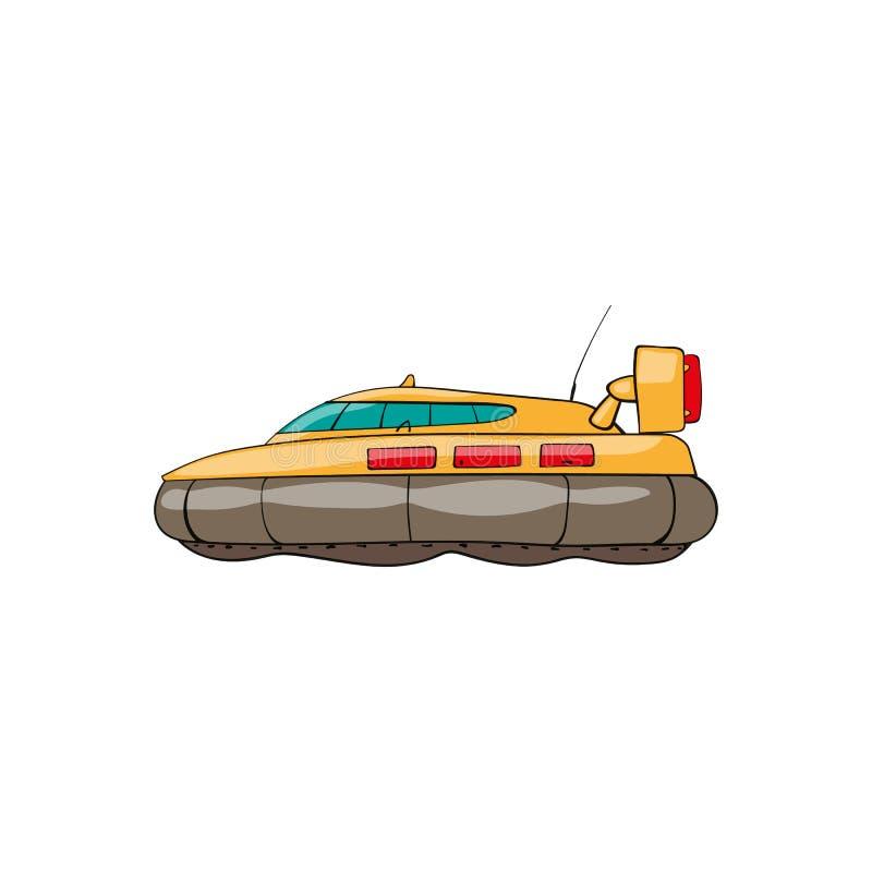 Aerodeslizador do brinquedo das crianças ilustração royalty free