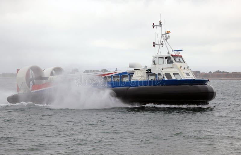 Aerodeslizador no mar fotografia de stock royalty free