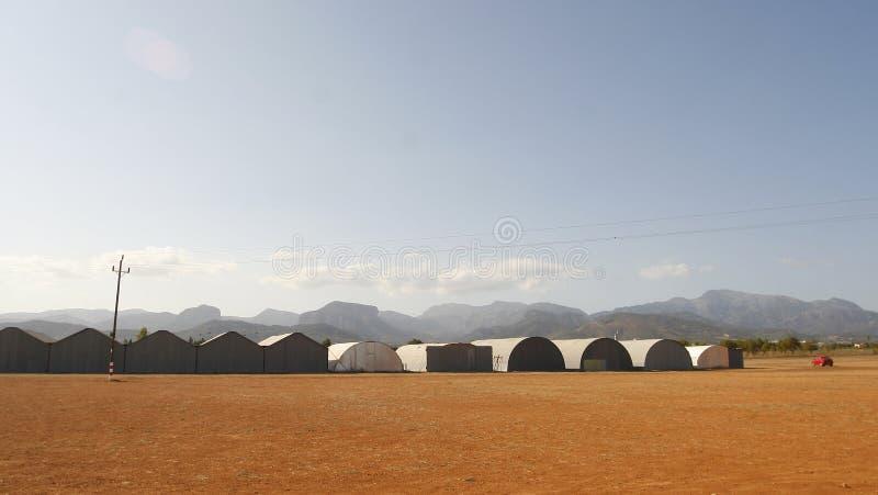 Aerodromo antico del biniali in Mallorca fotografia stock libera da diritti