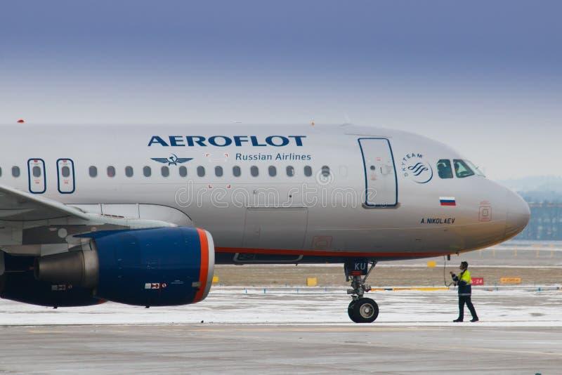 aeroflot stock afbeelding
