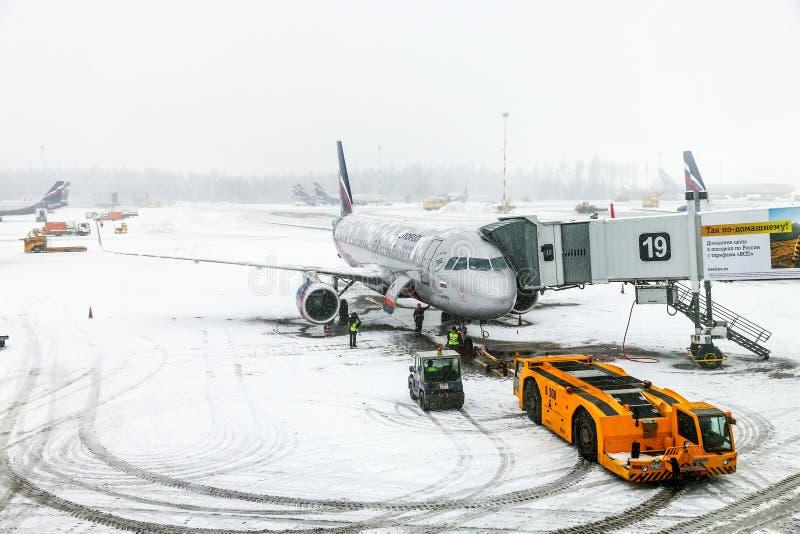 Aeroflot Aerobus A320 zdjęcie royalty free