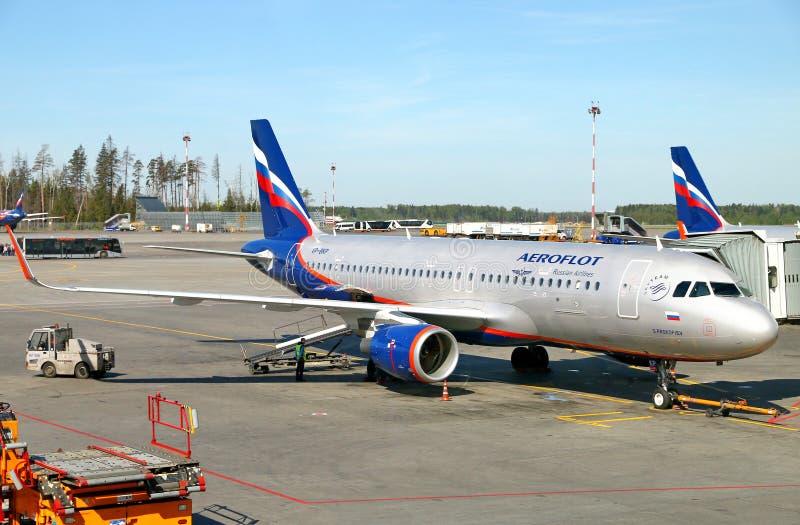 Aeroflot Aerobus A320 zdjęcia stock
