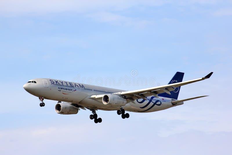 Aeroflot Aerobus A330 obrazy stock