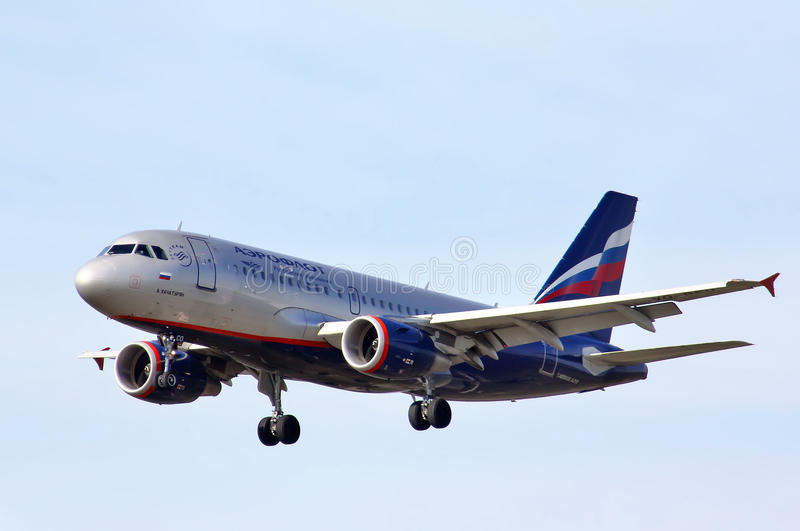 Aeroflot Aerobus A319 zdjęcie stock