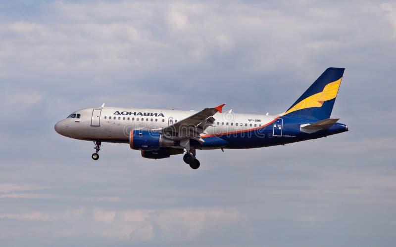 Aeroflot Aerobus A319 obraz stock