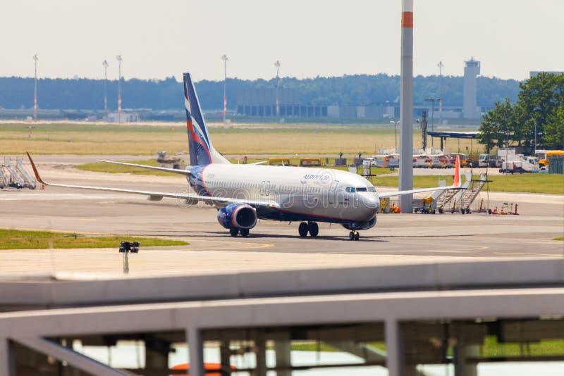 Aeroflot - Rosyjskie linie lotnicze Boeing 737-8LJ zdjęcie royalty free