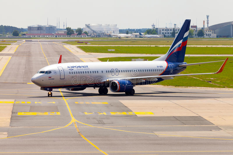 Aeroflot - Rosyjskie linie lotnicze Boeing 737-8LJ obraz royalty free