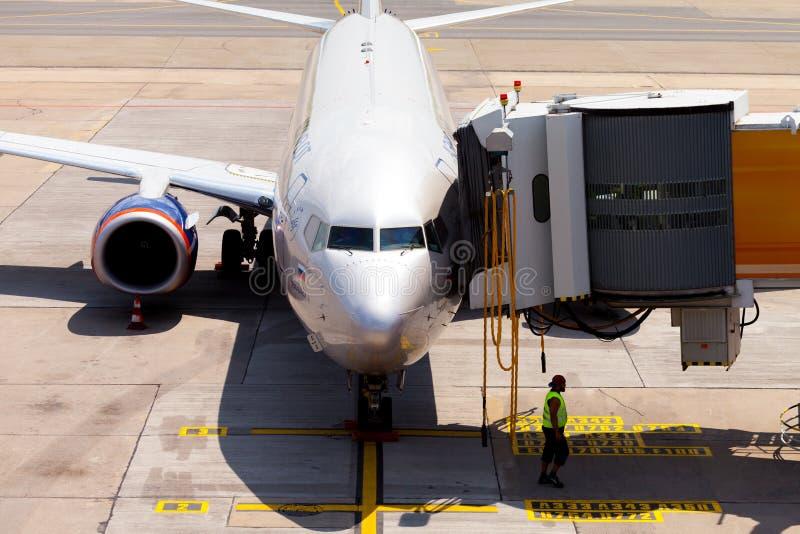 Aeroflot - Rosyjskie linie lotnicze Boeing 737-8LJ fotografia royalty free