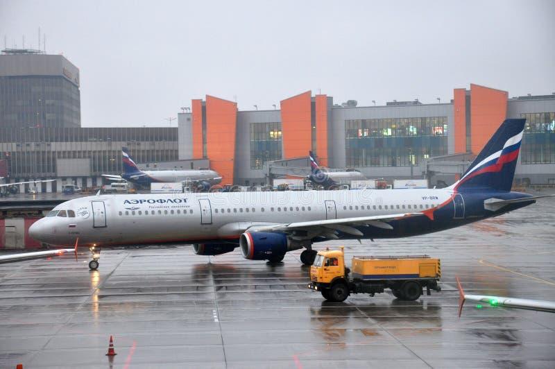 Aeroflot Rosyjskie linie lotnicze samolotowe zdjęcia stock