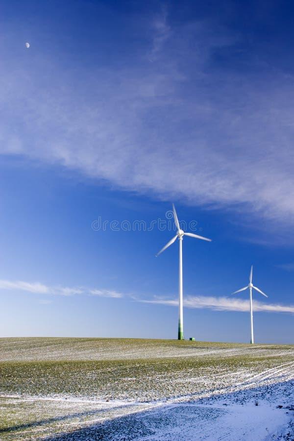 Aerogenerators imagem de stock