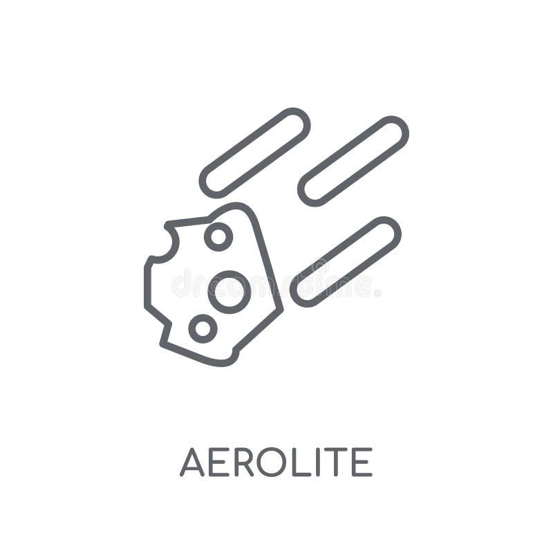 aerolite lineair pictogram Modern overzichtsaerolite embleemconcept op wh vector illustratie
