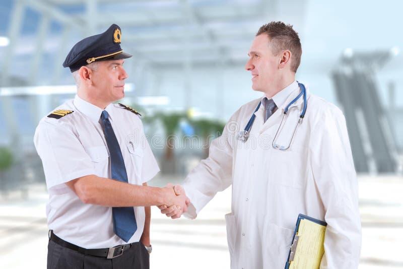 Aeromedical Aviation stock image