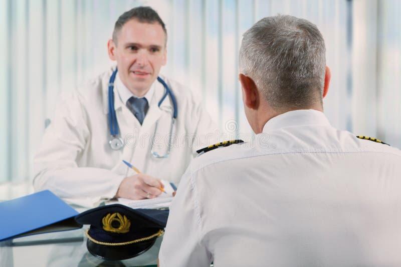 Aeromedical egzamin obrazy royalty free