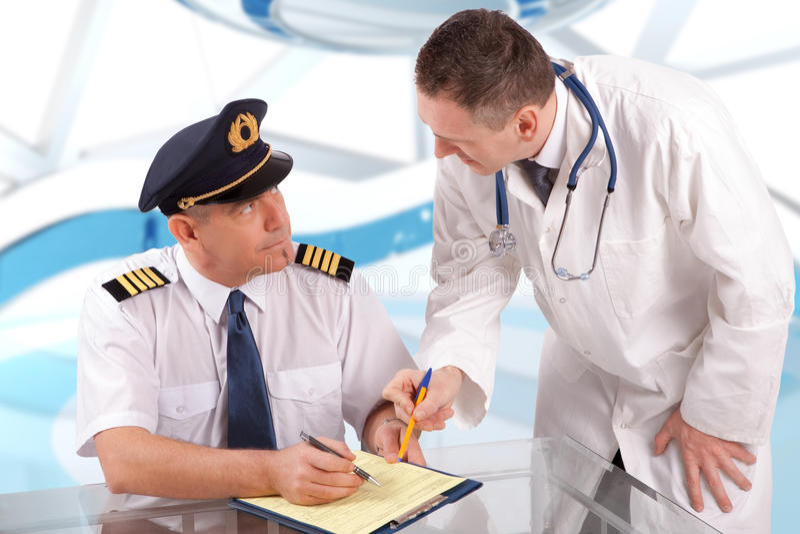 Aeromedical Exam royalty free stock photo