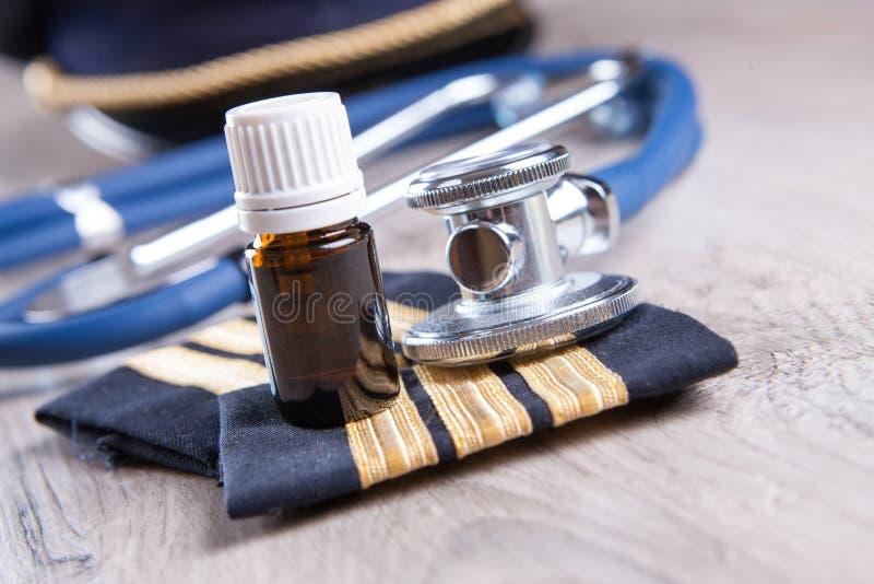 Aeromedical Exam stock photography